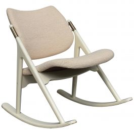 Olav Haug Rocking Chair by Elverum Møbel, Norway, circa 1950
