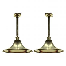 Pair of English Silver Plated Hanging Lights