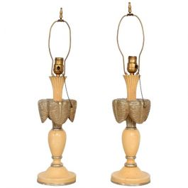 1940s Neoclassical Sculptural Table Lamps