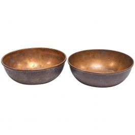 Pair of Art Deco Brass Bowls