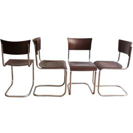 Set Of Four S10 Chairs By The Slezak Company