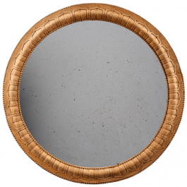 An Indian carved hardwood mirror
