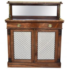 19th Century Regency Rosewood Chiffonier Buffet