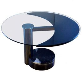 1960's Revolving Round Or Oval Dining Table Attributed To Pierre Cardin