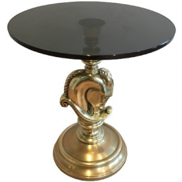 MAISON CHARLES. HORSEHEAD ROUND OCCASIONAL TABLE