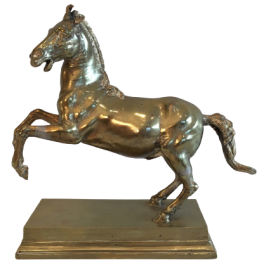 Bronze Prancing Horse. French. 19Th Century