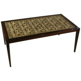 1970s Severin Hansen Rosewood Coffee Table with Royal Copenhagen Tiles