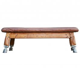 Large Gymnastics Leather Bench Table 1930s, Exclusive
