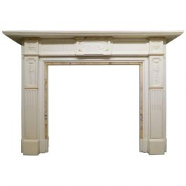 19th Century Neoclassical Marble Fireplace Mantel