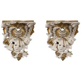 A pair of George III period wall brackets