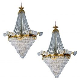 Pair of Late 19th Century French Chandeliers