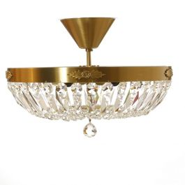 Plafond Crystal Chandelier in Brass (36cm/14inches)