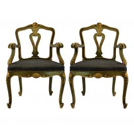 A Pair Of Northern Italian Armchairs