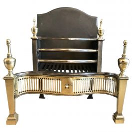 Georgian Style Steel and Brass Fire Grate