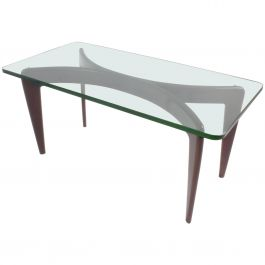 Exceptional Gio Ponti Fontana Arte Coffee table Important Bevelled Crystal Glass