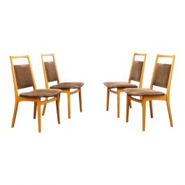 Set of Four 1960s Dining Chairs, Cherrywood
