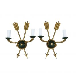 Empire Revival Wall Lights Early 20Th Century France
