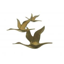 Vintage copper bird sculpture, 1970s