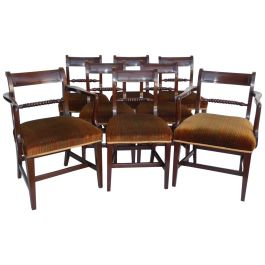 Set of 8 19th Century George III Mahogany Dining Chairs