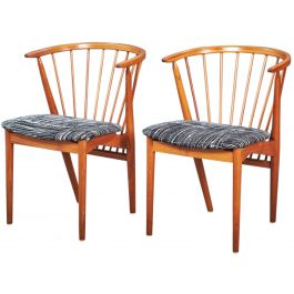 Mid-Century Teak No. 8 Dining Chairs by Helge Sibast for Sibast, Set of 2