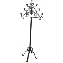 Wrought Iron Floor Lamp With 7 Lights. French