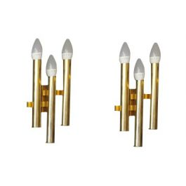 Sciolari Brass Wall Candlelights