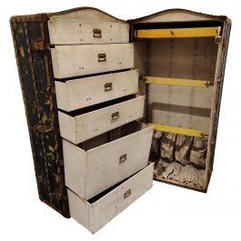 Antique Steamer Trunk by Innovation, 1930s