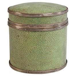Art Deco Shagreen Covered Box with Silver Mounts by J.P. Cooper