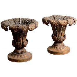 A pair of Italian tole vases