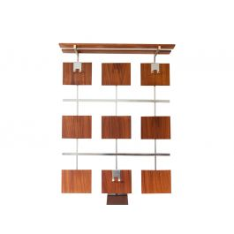 Teak Laminate Wall Hanging Coat Rack
