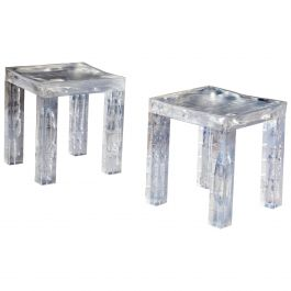 Pair of Resin 'Ice Cube' Tables