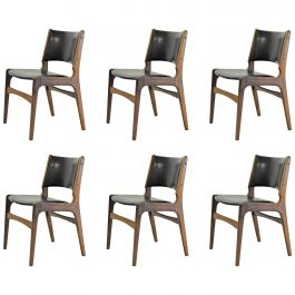 Six Erik Buch Refinished Dining Chairs in Solid Teak, Choice of Upholstery