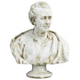 Antique Bust of French Philosopher Montesquieu France c1880