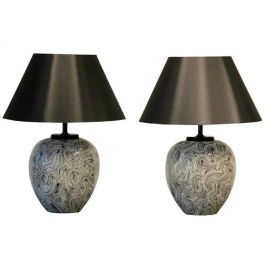 Pair of Large 1970s Ceramic Table Lamps by Pander