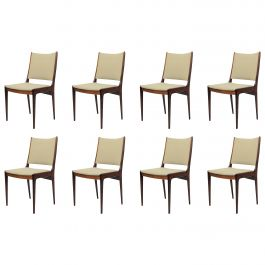 Eight Johannes Andersen Refinished Rosewood Dining Chairs, Choice of Upholstery