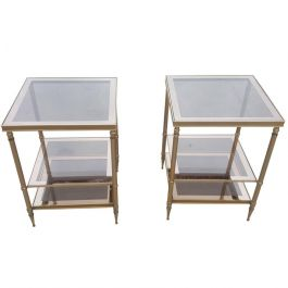 1960s Pair Of Side Tables In The Style Of Maison Jansen