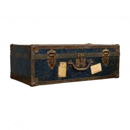 Antique Steamer Trunk, English, Travel, Voyage, Chest, Edwardian, circa 1910