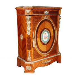 Late 19th Century Napoleon III Marquetry Side Cabinet