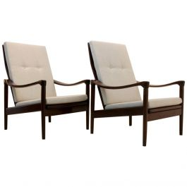 Midcentury Set of Easy Chairs by De Ster Gelderland, Holland