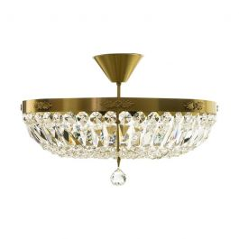 Plafond Crystal Chandelier in Brass (48cm/18.9inches)