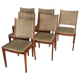 Johannes Andersen Set of Six Refinished Teak Dining Chairs, Inc. Reupholstery