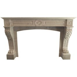 Antique Louis XVI French Marble Fireplace Mantel