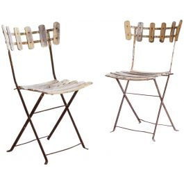 A Pair Of Folding Metal Garden Chairs