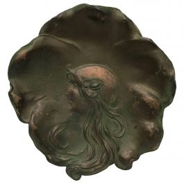 Art Nouveau Lady Plate, Signed and Dated 1906