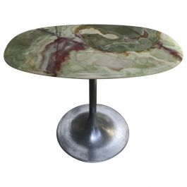 Mid-Century Modern Italian Side Table with Onyx Top, 1960s