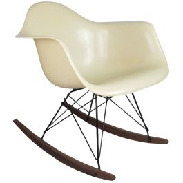 EAMES HERMAN MILLER RAR ROCKING CHAIR IN PARCHMENT / WHITE