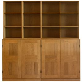 A Solid Oak Modular Storage Unit By Mogens Koch (1898 - 1992)