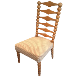 Unusual Chair Made Of Wooden Balls And Diamonds