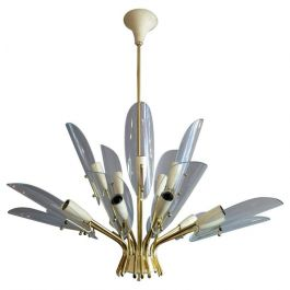 Italian Modern Stylised-Flower Chandelier