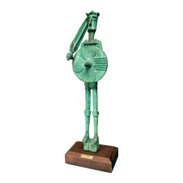 1950s Civilta Nuragica Bronze Sculpture